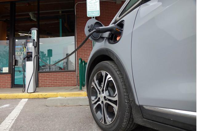 2019 Chevrolet Bolt EV at public charging station