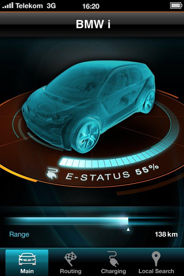 2013 BMW i3 Electric Car Smartphone App