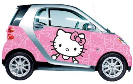 Customize Your Smart Car With Hello Kitty Graphics