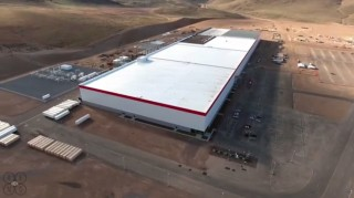 Tesla gigafactory, March 2016, shown in drone footage posted to YouTube by Above Reno