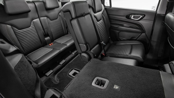 The three row SUV has plenty of storage space. The boot can hold at least 233 litres of luggage, but can be extended to 1,760 litres with last two rows down.