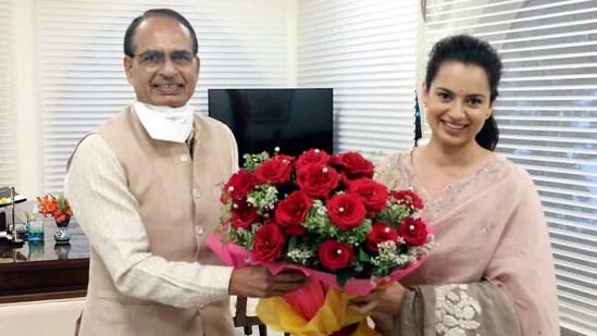 Before starting the shooting of Dhakad in Madhya Pradesh, Kangana had met Chief Minister Shivraj Singh Chouhan in Bhopal. (ANI)