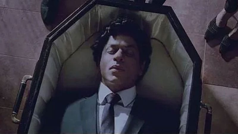 Shah Rukh Khan in a still from Ra.One.