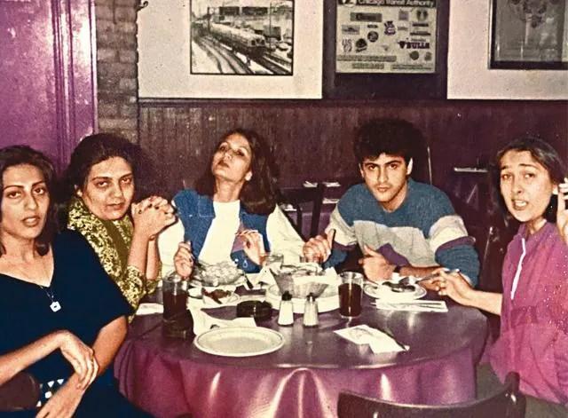 At a restaurant in London with (left) sister-in-law Sunita, Daksha, Meera Ruia and Rima Kapoor