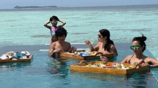 Fabulous Lives of Bollywood Wives' stars Maheep Kapoor and Seema Khan too went to the Maldives and had shared pictures of their love for the water.