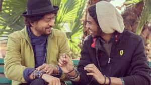 Babil shares Irrfan Khan's photo with Amitabh Bachchan of Piku sets, he says of working with him