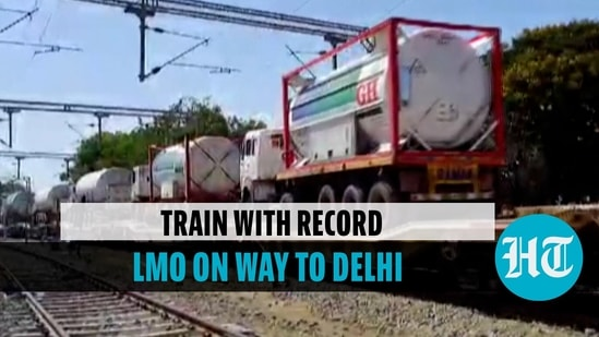 Oxygen Express with highest volume of LMO leaves from Hapa to Delhi