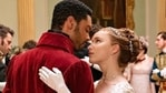 Regé-Jean Page and Phoebe Dynevor play as the Duke of Hastings and debutant Daphne in Bridgerton.  (Netflix)