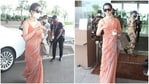 Kangana Ranaut removed her mask at the airport for photos. (Varinder Chawla)