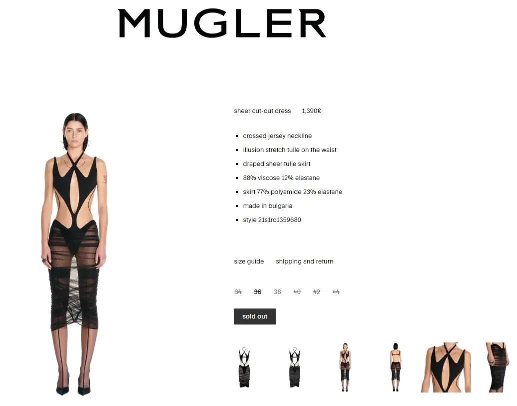 Megan Fox's dress is worth ₹1.23 lakh(fashion.mugler.com)