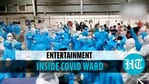 Health professionals dance inside patient's ward at Mumbai's Covid centre