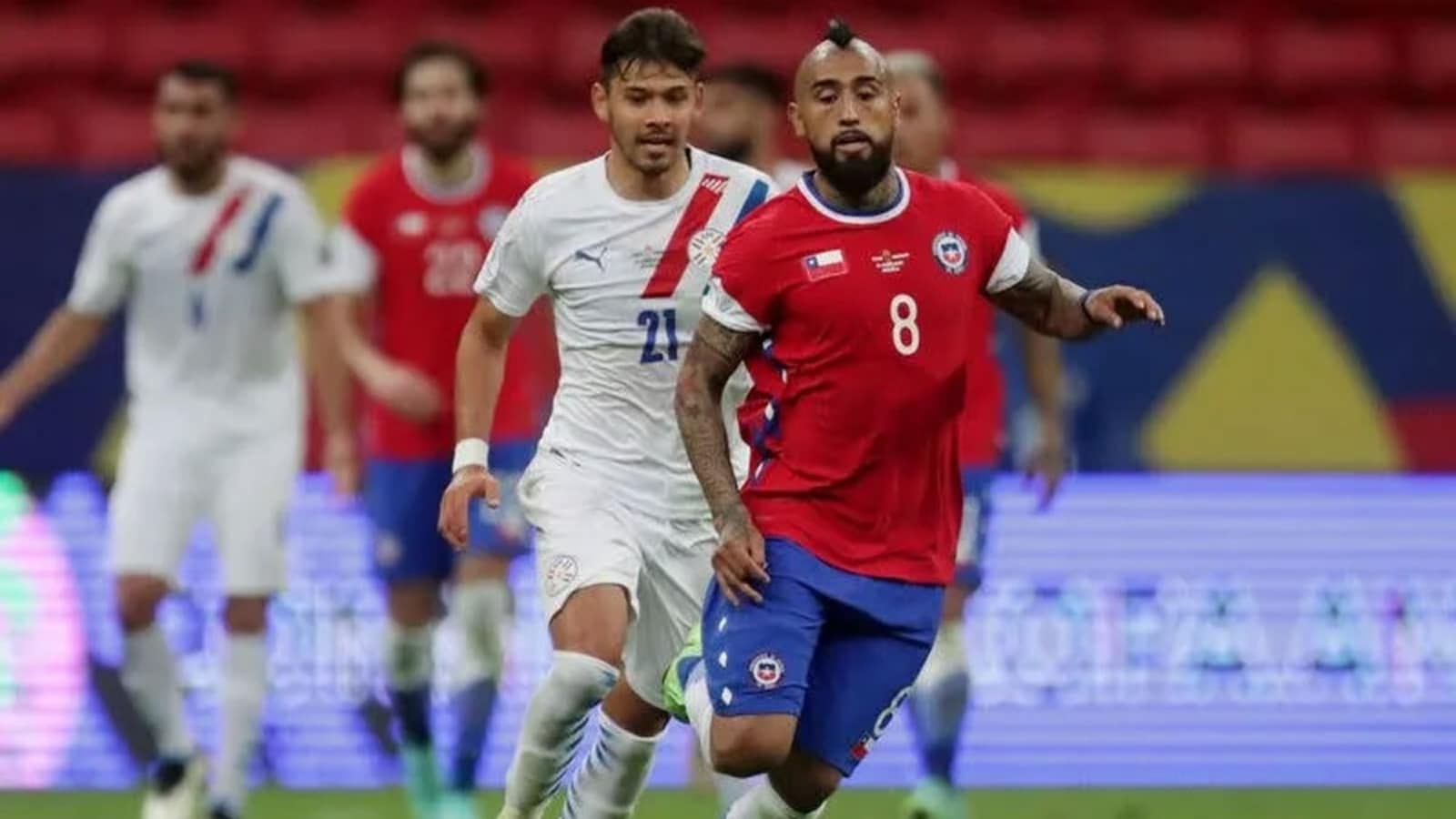 Almiron stars as Paraguay defeat Chile 2-0 in Copa America | Football News  - Hindustan Times