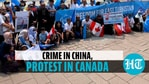 Anti-China protest outside Canada PM's office over Uyghur 'genocide' in Xinjiang