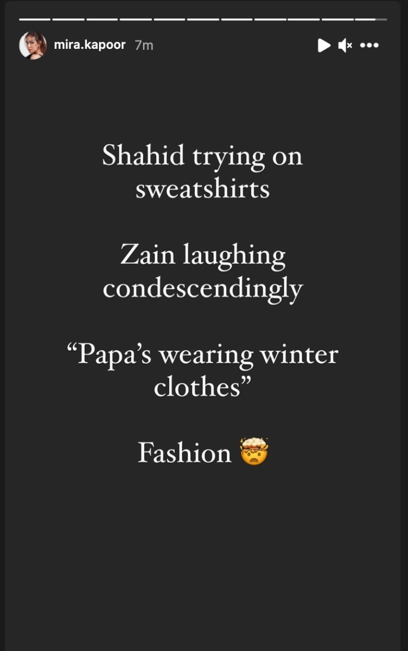 Mira said that Zain laughed 'condescendingly' as Shahid tried on his sweatshirts.