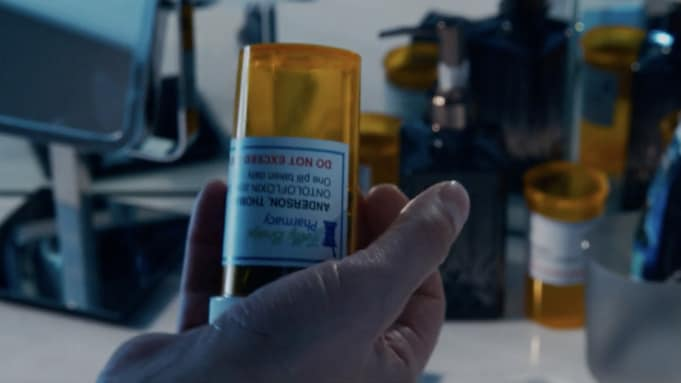 A drink from Neo's pill bottle.