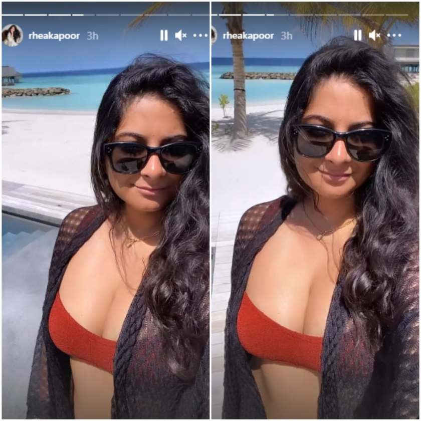 Rhea Kapoor has given fans glimpses of her honeymoon in the Maldives.