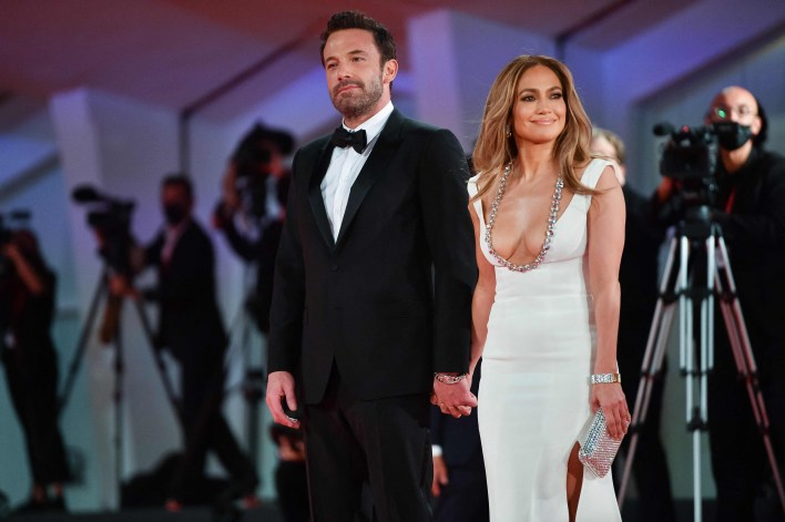 Bennifer at the screening of The Last Duel.(AFP)