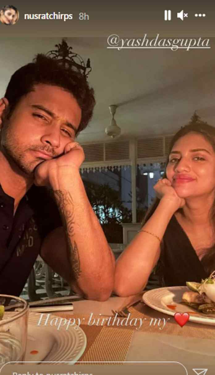 Nusrat congratulated Yash on his birthday with a midnight treat.