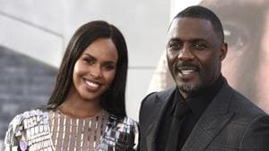 Idris Elba arrives with his wife Sabrina Dhowre Elba at the Los Angeles premiere of Fast & Furious Presents: Hobbs & Shaw.(Jordan Strauss/Invision/AP)