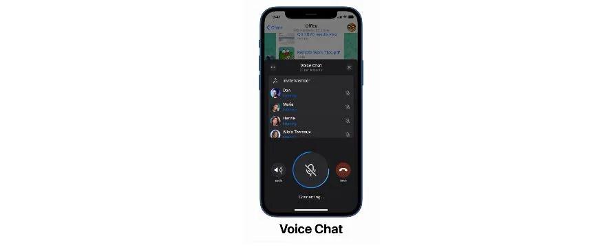 Telegram gets Voice Chats.