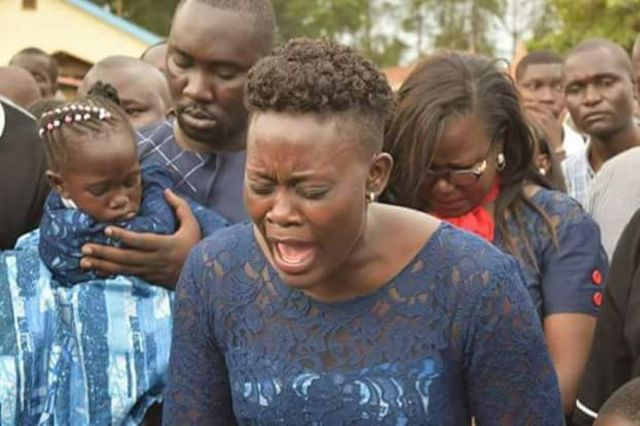 Revealed: Chebukati, Chiloba did not attend Msando's burial [PHOTOS]