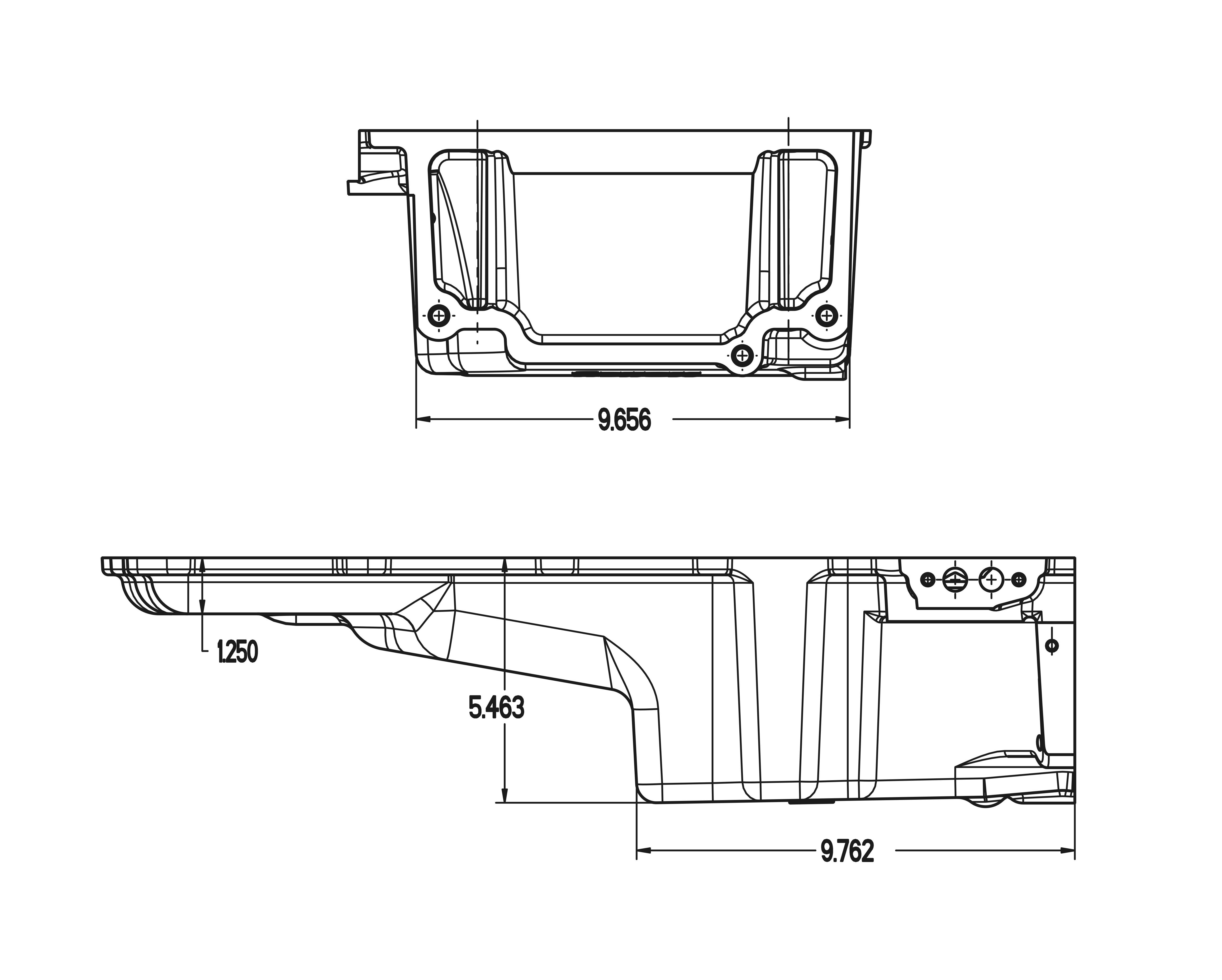 Holley 302 2 Gm Ls Retro Fit Oil Pan