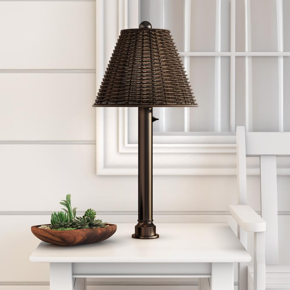 bronze outdoor umbrella table lamp with