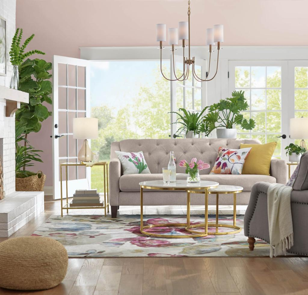 Earthy Cottage Living Room Shop By Room The Home Depot