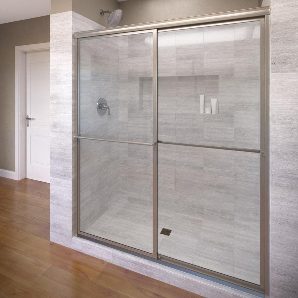 Basco Deluxe 59 In X 71 In Framed Sliding Shower Door In