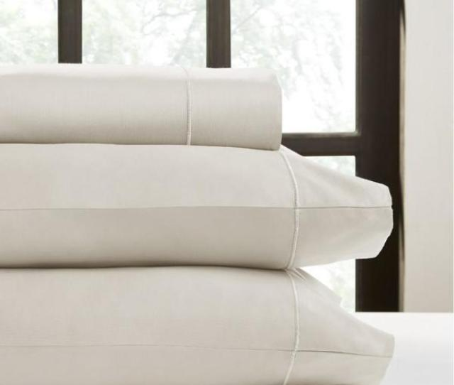Perthshire Ash T750 Solid Combed Cotton Sateen California King Sheet Set