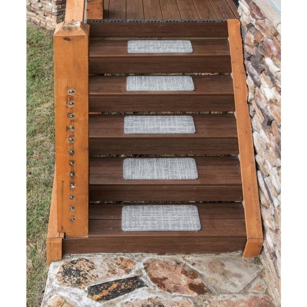 Nance Carpet And Rug Peel And Stick Earthtone Indoor Outdoor 8 In | Outdoor Wood Steps Home Depot | Treated Wood | Handrail | Spiral Staircase | Staircase | Concrete Steps