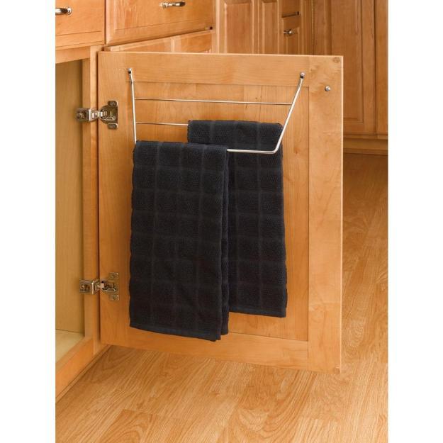 rev-a-shelf 6.5 in. h x 12.75 in. w x 3.5 in. d chrome cabinet door