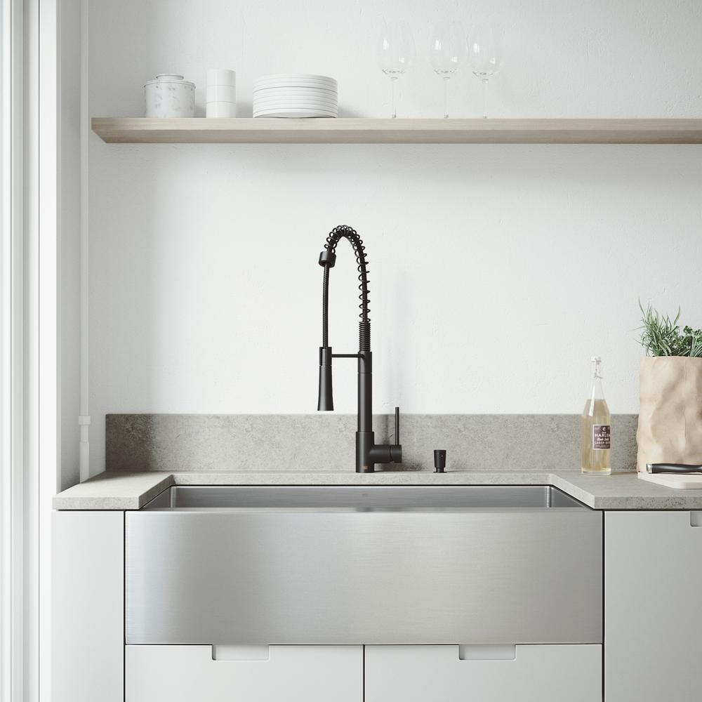 stainless steel kitchen sink with black