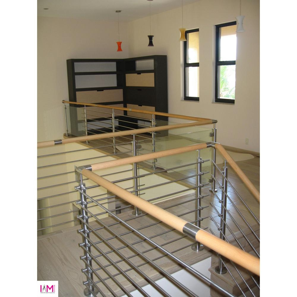 Iam Design Wood Inox Stainless Steel Handrail Connector E603 The | Wood And Steel Handrail | Outdoor | Column | Stainless Steel | Balustrade | Ultra Modern Steel