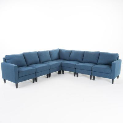 blue sectionals living room