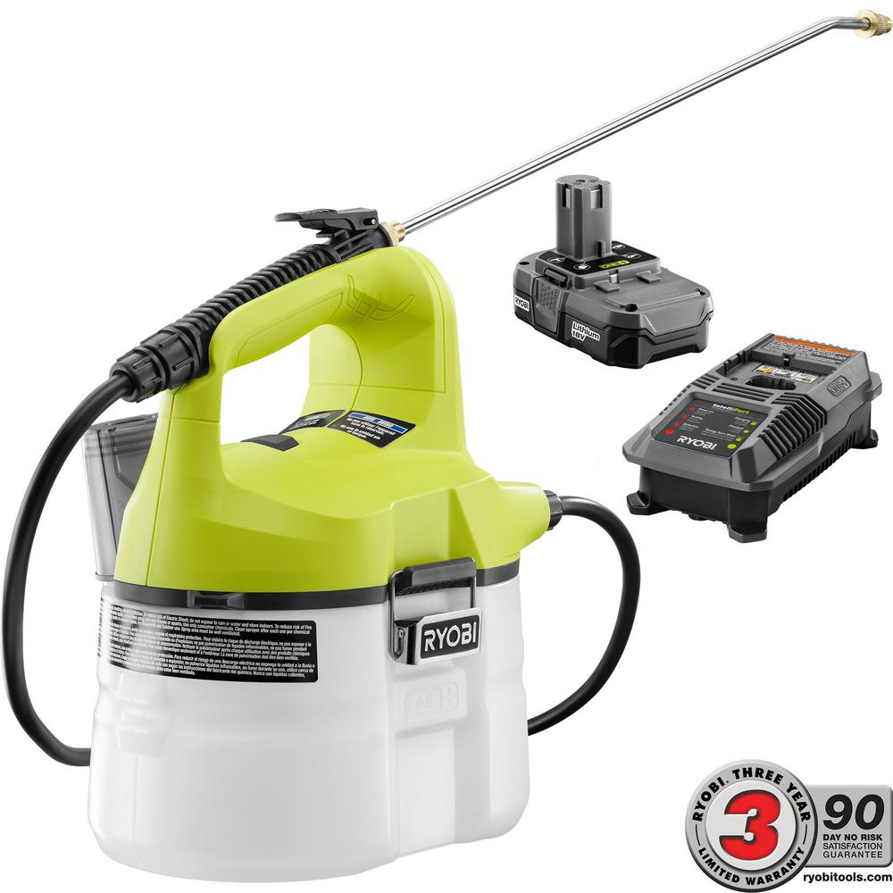 RYOBI Cordless Chemical Sprayer 1 Gal ONE 18 V Li Ion 13 Ah BatteryCharger 630194761502 EBay