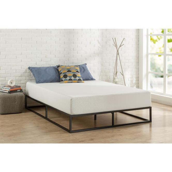Modern Studio Platforma King Metal Bed Frame
