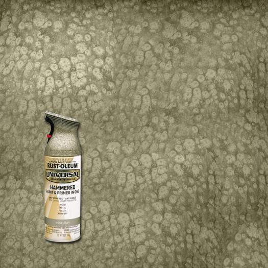 Rust Oleum Universal 12 Oz All Surface Hammered Rosemary Spray Paint And Primer In