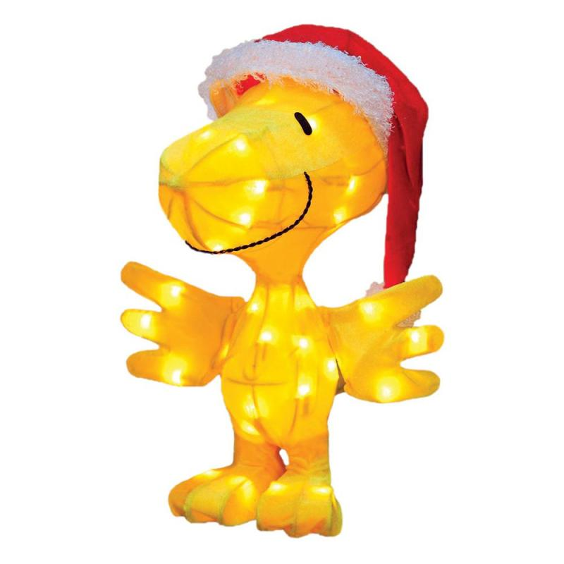 Pre Lit Peanuts Tinsel Woodstock Outdoor Decoration And
