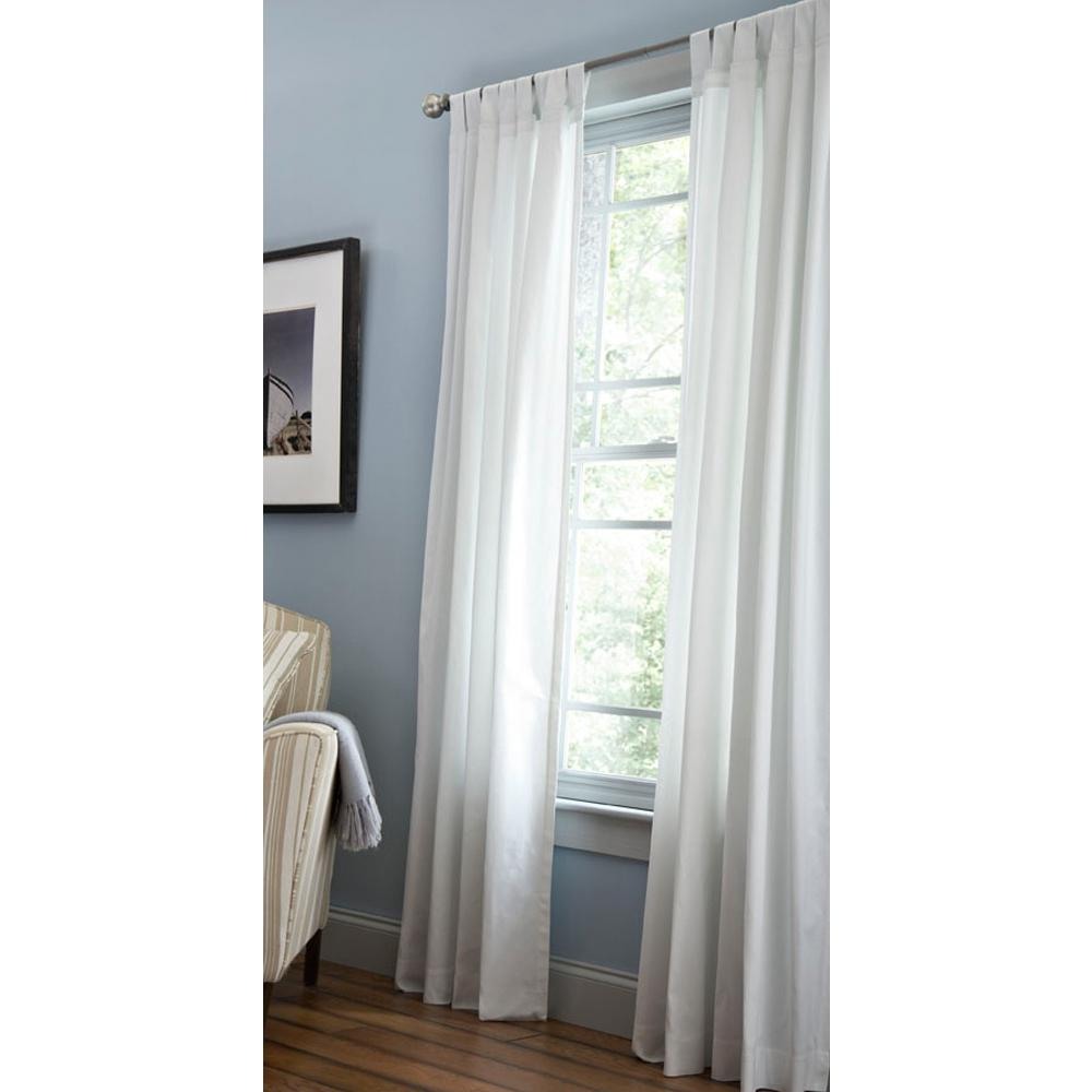 Martha Stewart Living Classic Cotton Light Filtering Window Panel In Pure White 50 In W X 84