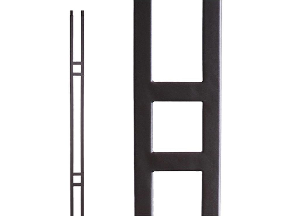 House Of Forgings Aalto Modern 44 In X 5 In Satin | Metal Spindles Home Depot