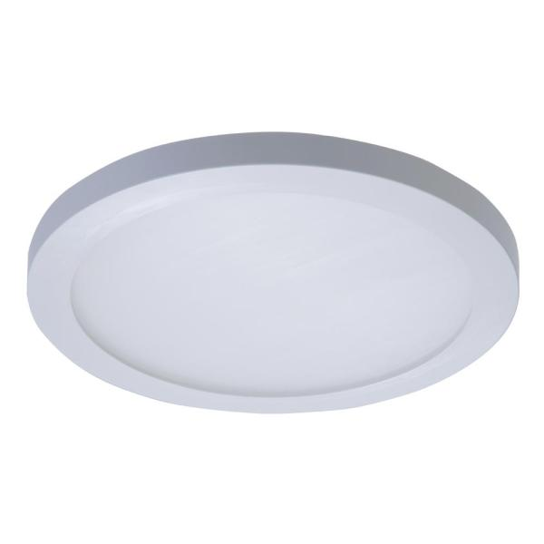 Halo SMD 5 in  and 6 in  White Integrated LED Recessed Round Surface     White Integrated LED Recessed Round Surface Mount Ceiling Light Fixture at  90 CRI  4000K Cool White