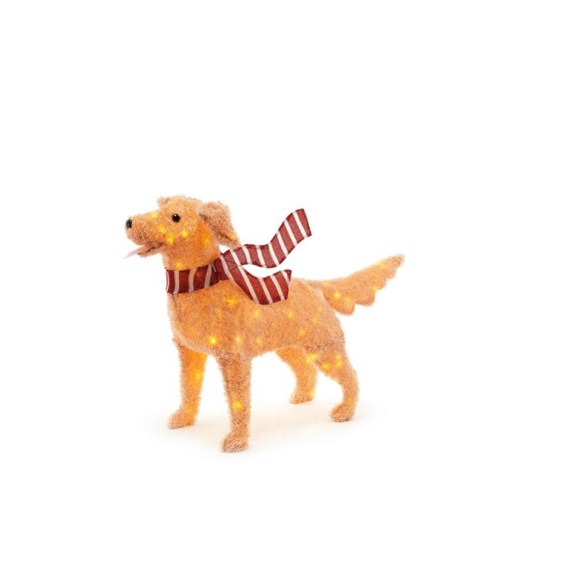 Home Accents Fuzzy Golden Retriever