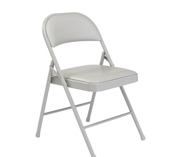 National Public Seating Nps  Series Vinyl Grey Upholstered Commercialine Folding Chairs Pack Of