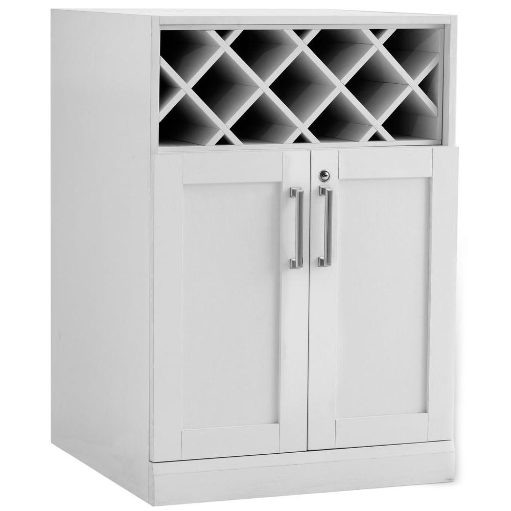 Best Kitchen Gallery: Newage Products Home Bar White 24 In Wine Storage Cabi 60005 of Storage Cabinets Product on rachelxblog.com