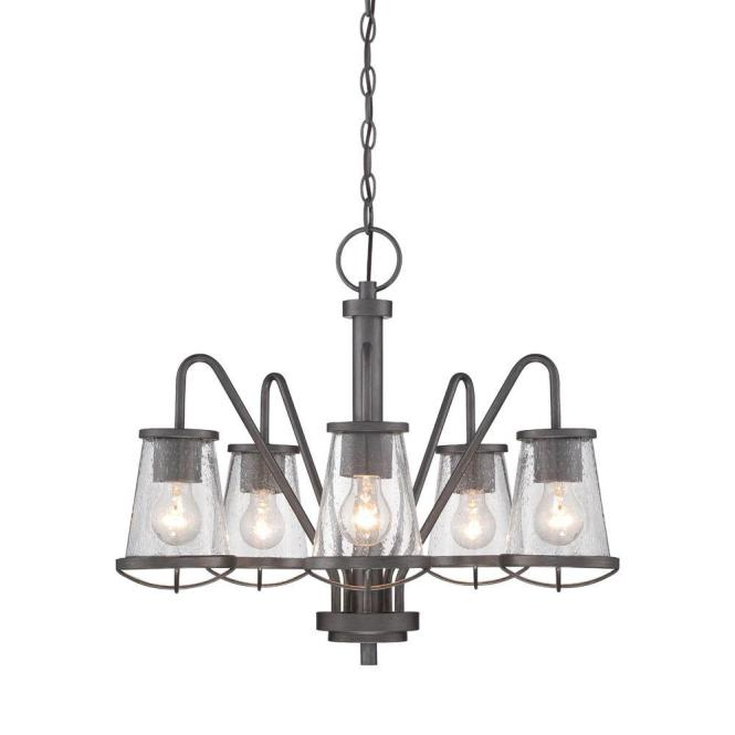 Designers Fountain Darby 5 Light Weathered Iron Chandelier