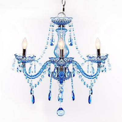 3 Light Blue Chandelier