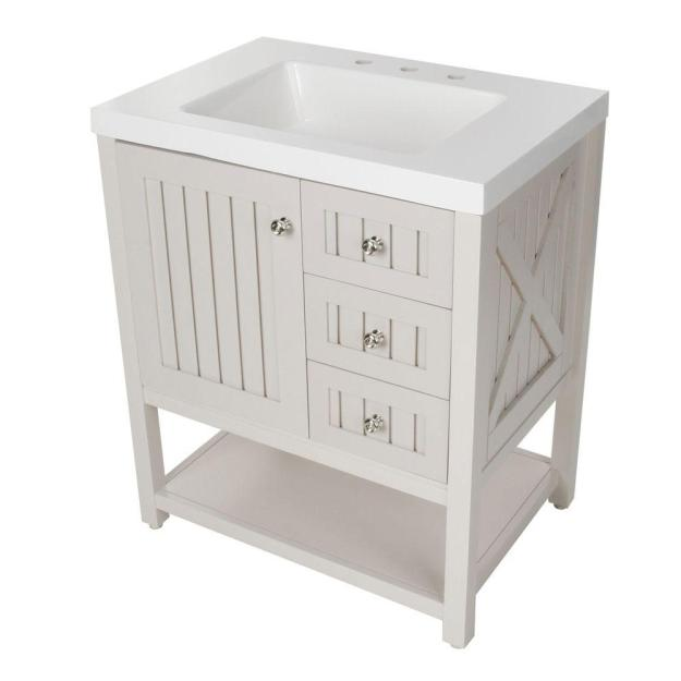 martha stewart living seal harbor 30-1/4 in. w bath vanity in