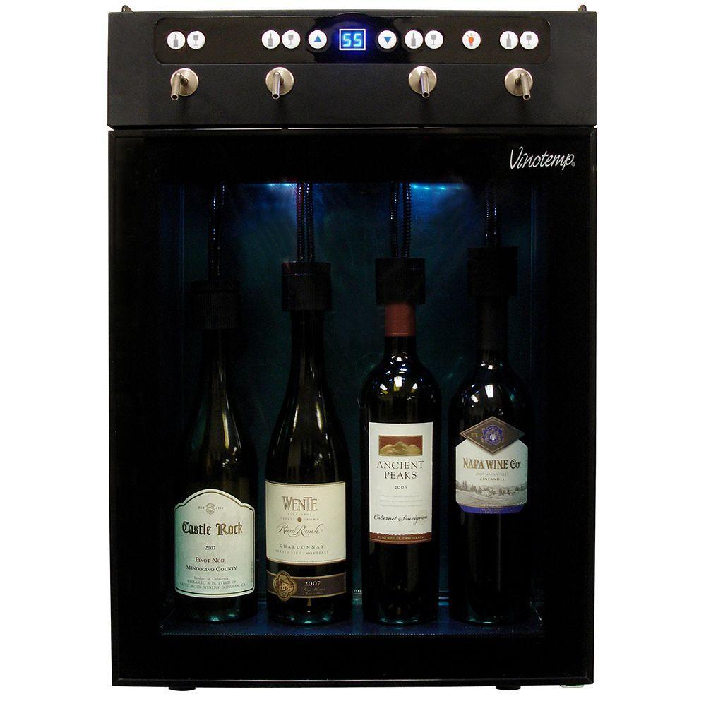 Vinotemp 4 Bottle Wine Dispenser And Preserver VT WINEDISP4 The Home Depot