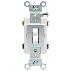 Leviton 20 Amp Commercial DoublePole Toggle Switch, WhiteR520CSB22WS  The Home Depot